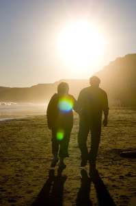 Valentine Science: Love on the mind - Love is a lifelong journey, photo by Jon Heinrich at Pt. Reyes, San Francisco, CA