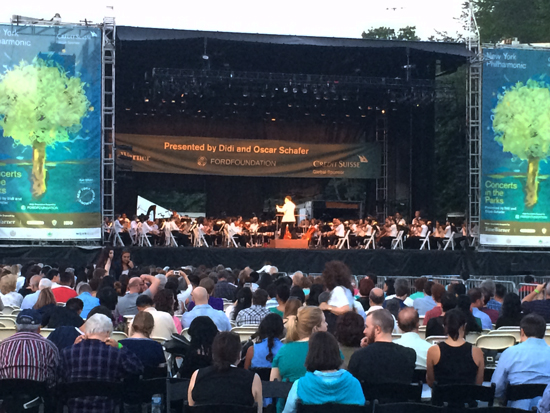 New York Philharmonic July 12, 2014, Central Park NYC
