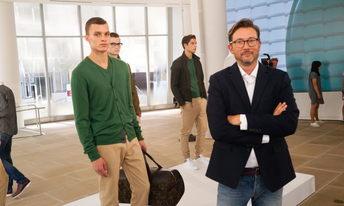 Design Director Todd Magill explains this year's careful application of color that was very refreshing at the Jack Spade Spring/Summer 2015 presentation