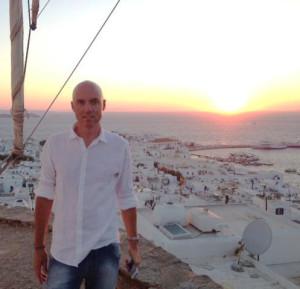 Damien Wynne Light Grids workshops, Damien near Mikonos Greece