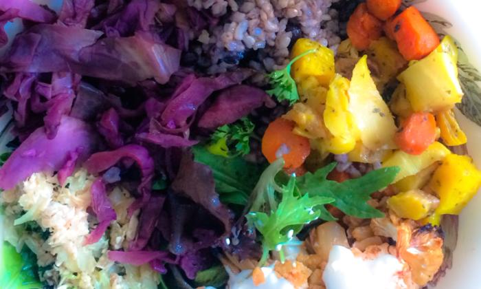 Rainbow Salad Plate