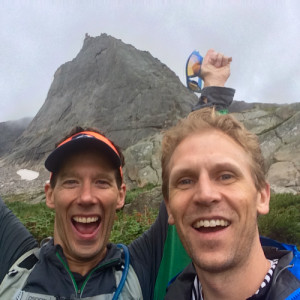 Do something that scares you, Aron Ralston and Jon Heinrich with Spearhead Peak